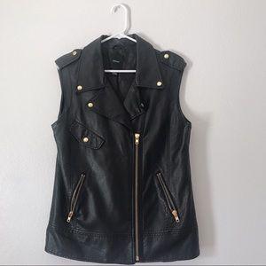 Forever 21 Fake Leather Moto Vest